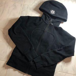 Lululemon black zip up scuba hoodie. EUC!